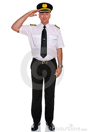 Airline pilot salute.