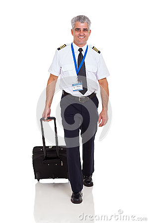 Airline pilot walking