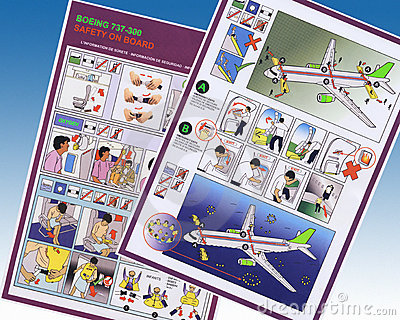 Airline Safety Information - Boeing Airliner Editorial Photography