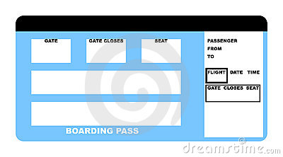 Blank Airline Boarding Pass Ticket Photos Images – Plane Ticket Template