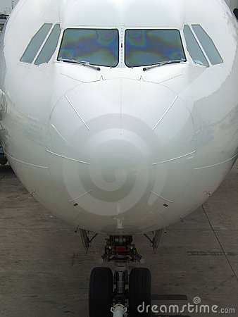 Airliner nose and landing gear