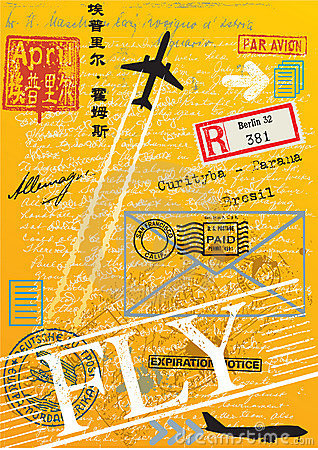 Airmail postage stamps
