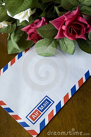Airmail and roses