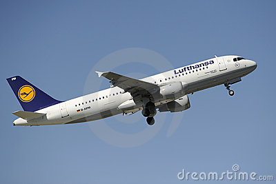 Airplane airbus a320 Editorial Image