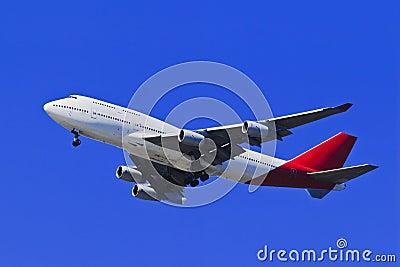 Airplane B 747 Blue SKy