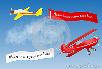Airplane banner with place for your text