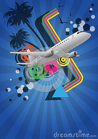 Airplane color graphic