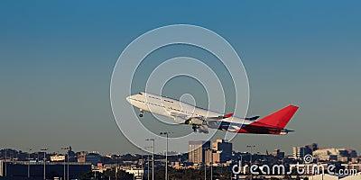 Airplane Depar Sky Land