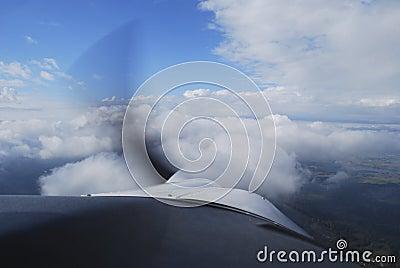 Airplane flight view