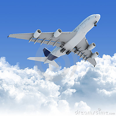 Free Airplane Flying Over The Clouds Stock Photos - 15073403