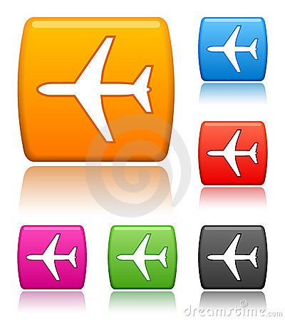 Free Airplane Icons Royalty Free Stock Photo - 5346365