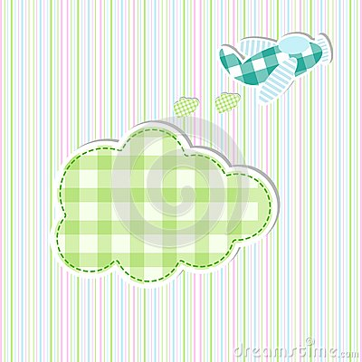 Free Airplane In Baby Arrival Card Royalty Free Stock Images - 27534039