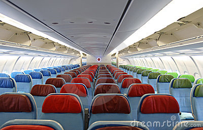 airplane  interior with the seats