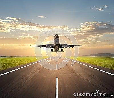 Plane Landing on