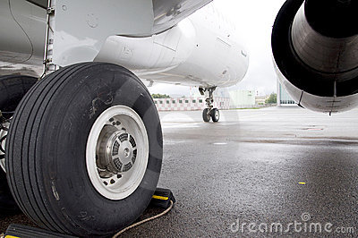 Airplane landing gear Editorial Stock Image