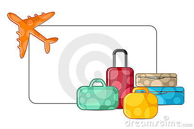 Airplane with Luggage