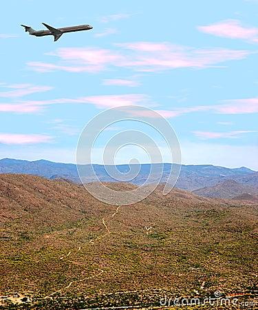 Free Airplane Over Desert Stock Photos - 179133