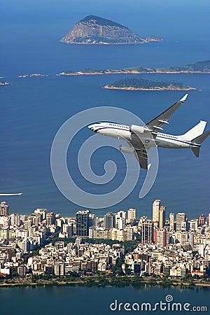 Free Airplane Over Ipanema Beach In Brazil Royalty Free Stock Photo - 4018935
