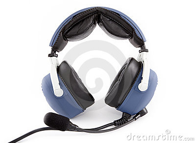 Airplane pilot headset
