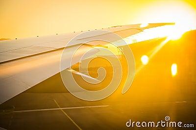 Airplane preparing to take of