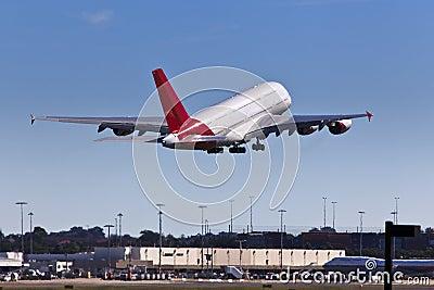 Airplane Qan A380 Up Land