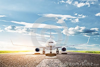 Airplane ready to take off. Passenger aircraft, airline. Transport, travel Stock Photo