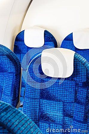 Airplane seats empty