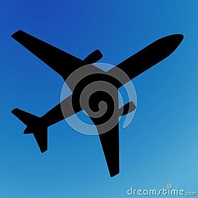 Free Airplane Silhouette Stock Photo - 308850