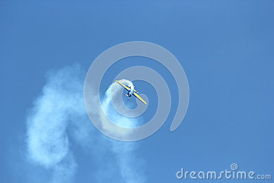 Airplane in the sky Editorial Stock Image