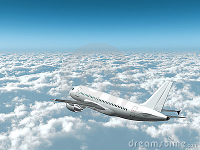 Airplane in the sky - Passenger aircraft in flight
