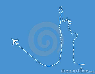 Airplane statue silhouette