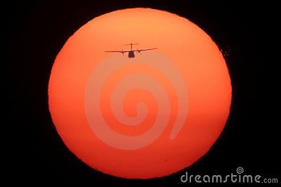 Airplane on the Sun