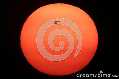 Airplane on the Sun