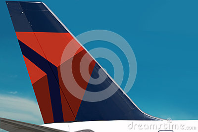 Delta Air Lines logo plain. Sky Editorial Photography