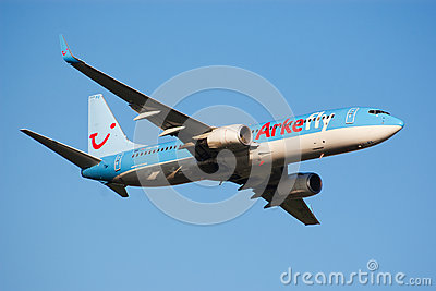 Airplane take-off Editorial Stock Photo