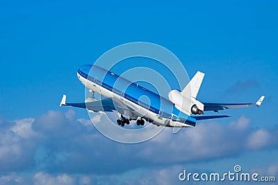 Airplane on takeoff