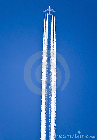 Free Airplane Trails Stock Photography - 16975642