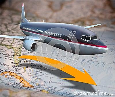 Airplane transportation