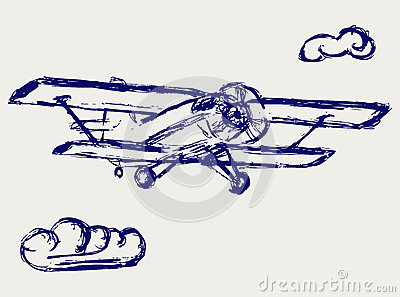 Airplane vector sketch