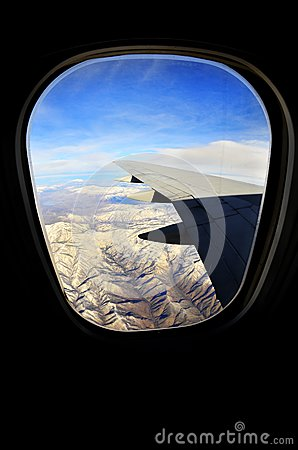 Airplane Window for Travel