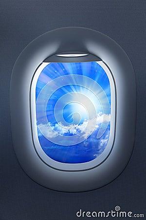 Airplane Window Travel Sky