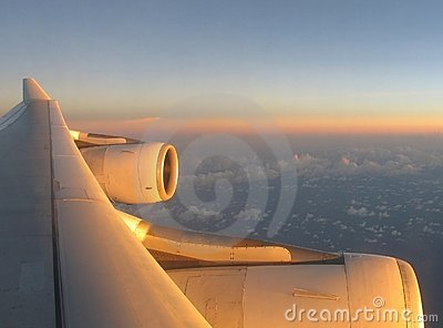 Airplane wing 1 Stock Photo