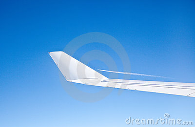 Plane Wing on Airplane Wing
