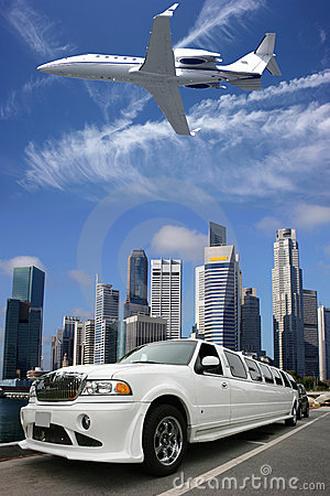 Free Airplanelimousine In Singapore Stock Image - 3186701