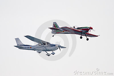 Airplanes Editorial Stock Photo