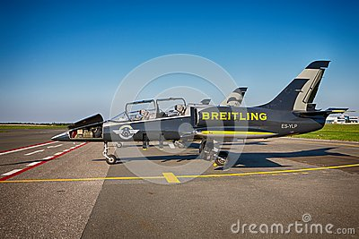 Airplanes Aero L-39 Albatros from Breitling Jet Team Editorial Photography