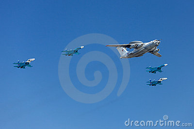 Airplanes in the skies Editorial Stock Photo