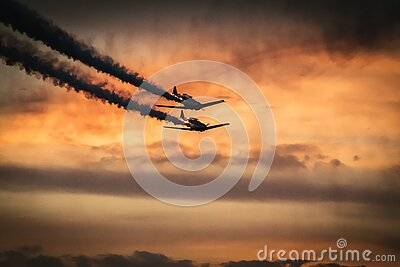 Airplanes In Sky With Smoke Trails Free Public Domain Cc0 Image