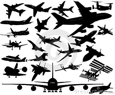 Airplanes in Vector Art