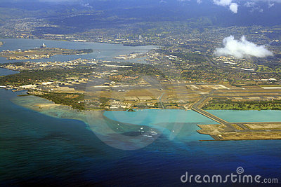 Airport aerial view